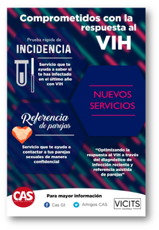 Figure 1. Promotional material created by CAS, a leading MSM organization in Guatemala, to build awareness and demand for recency testing.